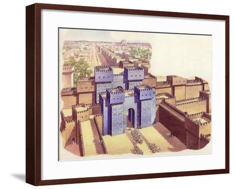 The Ishtar Gate of Babylon-Pat Nicolle-Framed Art Print