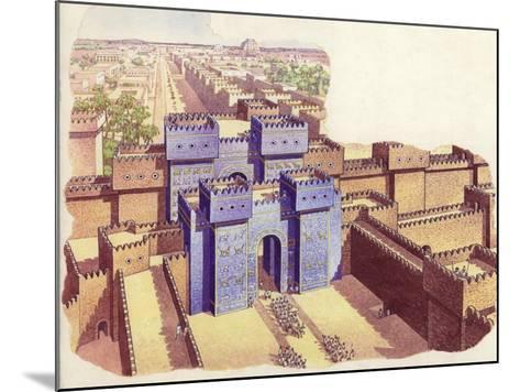 The Ishtar Gate of Babylon-Pat Nicolle-Mounted Giclee Print