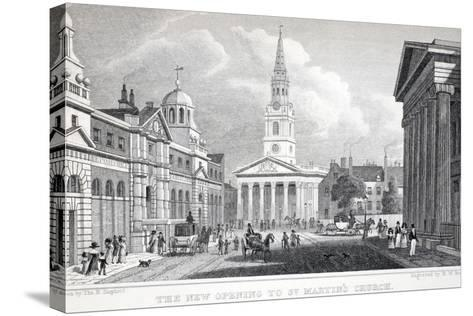 The New Opening of St Martin's Church-Thomas Hosmer Shepherd-Stretched Canvas Print