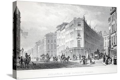 Piccadilly-Thomas Hosmer Shepherd-Stretched Canvas Print