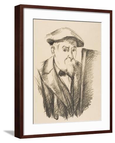 Self-Portrait, 1896-97-Paul C?zanne-Framed Art Print