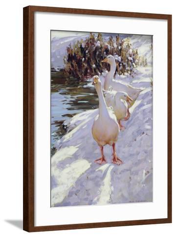 Geese in Snow-Paul Gribble-Framed Art Print
