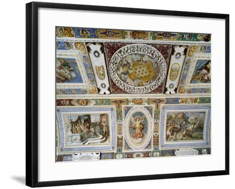 Detail from Ceiling of Hall of Farnesina Magnificence-Taddeo Zuccari-Framed Art Print