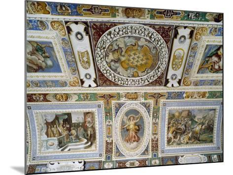Detail from Ceiling of Hall of Farnesina Magnificence-Taddeo Zuccari-Mounted Giclee Print
