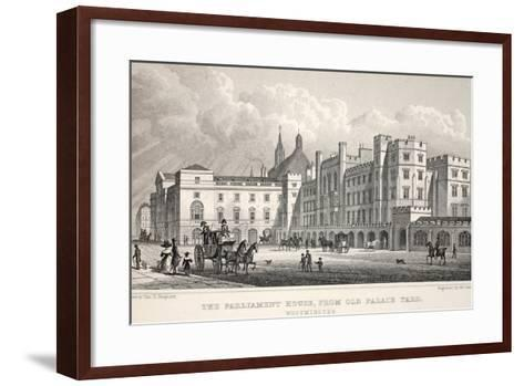 The Parliament House from Old Palace Yard-Thomas Hosmer Shepherd-Framed Art Print