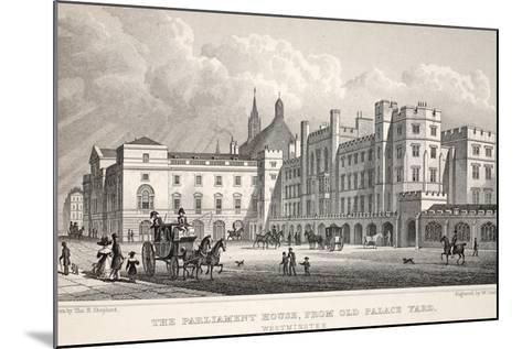 The Parliament House from Old Palace Yard-Thomas Hosmer Shepherd-Mounted Giclee Print