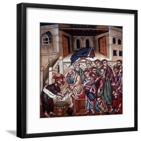 Jesus Washing the Disciples' Feet, 1494-Philippos Goul-Framed Art Print