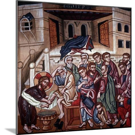Jesus Washing the Disciples' Feet, 1494-Philippos Goul-Mounted Giclee Print