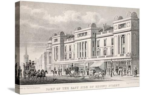 Part of the East Side of Regent Street-Thomas Hosmer Shepherd-Stretched Canvas Print