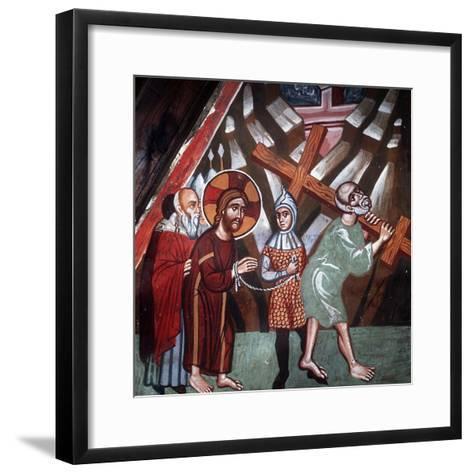 Simon Carrying the Cross, 1494-Philippos Goul-Framed Art Print