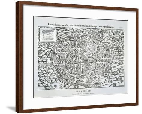 Paris City Plan C.1530-Sebastian Münster-Framed Art Print