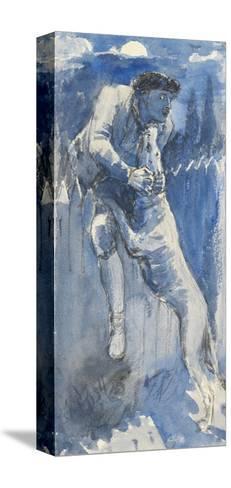 Defence, C.1849-50-John Everett Millais-Stretched Canvas Print