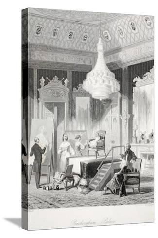 Buckingham Palace - the Princess Royal Sitting for a Portrait-Thomas Hosmer Shepherd-Stretched Canvas Print