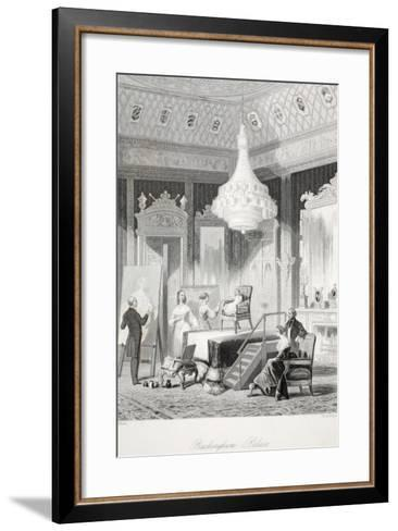Buckingham Palace - the Princess Royal Sitting for a Portrait-Thomas Hosmer Shepherd-Framed Art Print