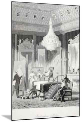Buckingham Palace - the Princess Royal Sitting for a Portrait-Thomas Hosmer Shepherd-Mounted Giclee Print