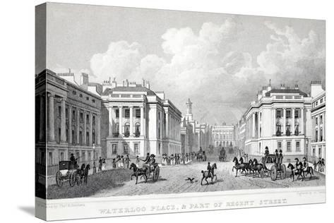 Waterloo Place-Thomas Hosmer Shepherd-Stretched Canvas Print