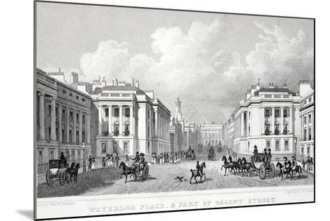 Waterloo Place-Thomas Hosmer Shepherd-Mounted Giclee Print