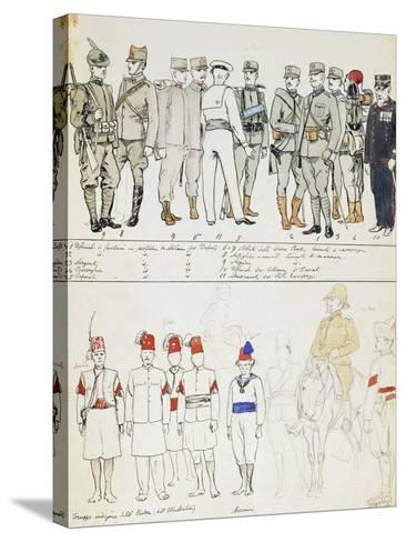 Uniforms of Kingdom of Italy, Color Plate, 1911-Quinto Cenni-Stretched Canvas Print