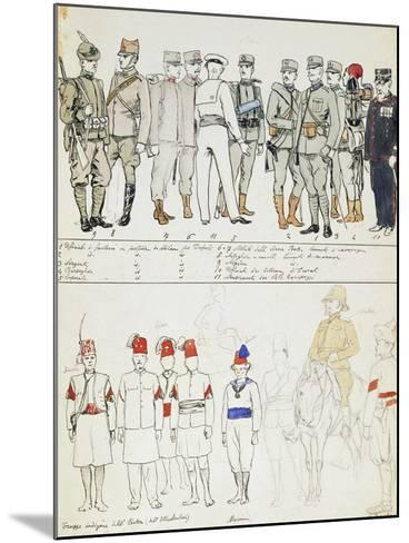 Uniforms of Kingdom of Italy, Color Plate, 1911-Quinto Cenni-Mounted Giclee Print
