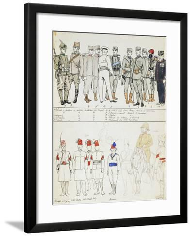 Uniforms of Kingdom of Italy, Color Plate, 1911-Quinto Cenni-Framed Art Print