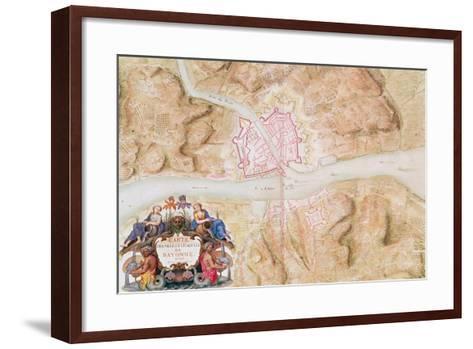 Plan and Map of the Town and Citadel of Bayonne-Sebastien Le Prestre de Vauban-Framed Art Print