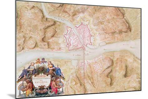 Plan and Map of the Town and Citadel of Bayonne-Sebastien Le Prestre de Vauban-Mounted Giclee Print