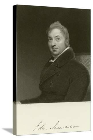 Edward Jenner-Thomas Lawrence-Stretched Canvas Print