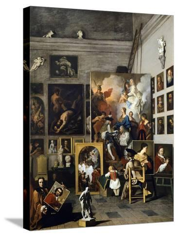 Painter's Studio-Pierre Subleyras-Stretched Canvas Print