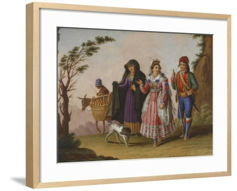 Scenes with Figures in Traditional Costumes-Raffaele Giovine-Framed Art Print