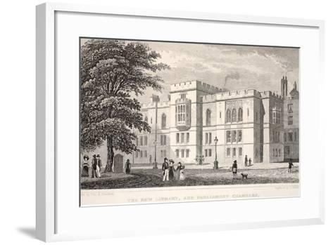 The New Library, and Parliament Chambers-Thomas Hosmer Shepherd-Framed Art Print