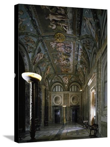 Loggia of Cupid and Psyche with Fresco Cycle Stories of Cupid and Psyche-Raffaello Sanzio-Stretched Canvas Print