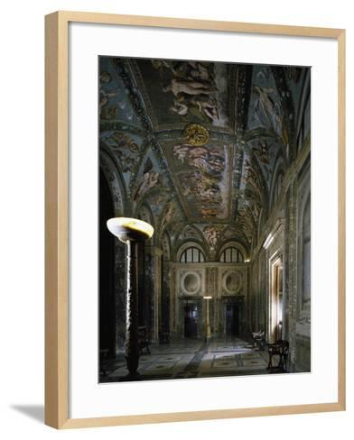 Loggia of Cupid and Psyche with Fresco Cycle Stories of Cupid and Psyche-Raffaello Sanzio-Framed Art Print