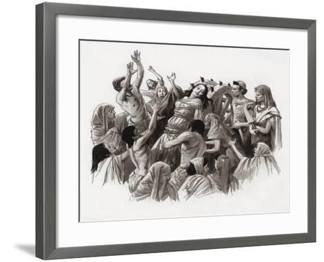 Saint Catherine Being Tortured on the Wheel-Ralph Bruce-Framed Art Print