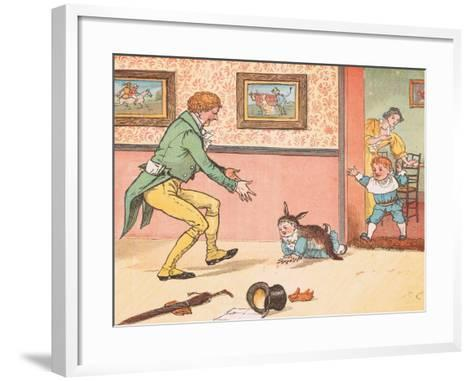Gone to Fetch a Rabbit Skin-Randolph Caldecott-Framed Art Print