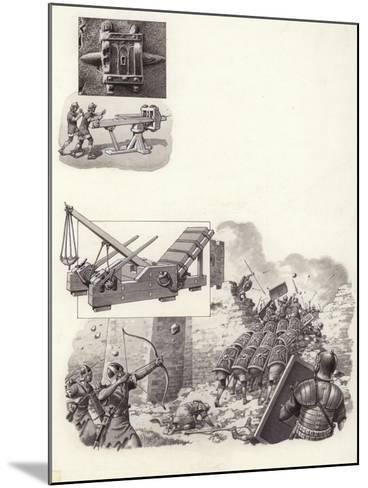 Roman Catapult-Pat Nicolle-Mounted Giclee Print