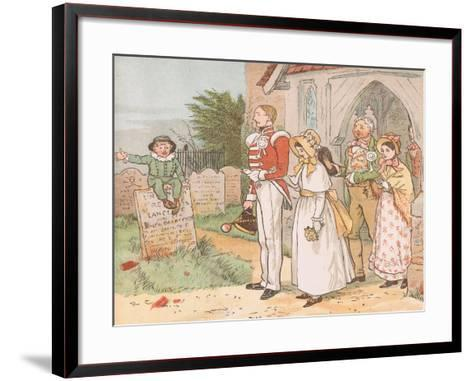 Oh! Never Despise the Soldier Lad-Though His Station Be But Low-Randolph Caldecott-Framed Art Print