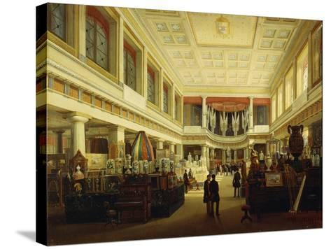 First Industrial Exhibition in Naples in Sala Tarsia in 1854-Salvatore Fergola-Stretched Canvas Print