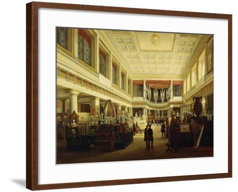 First Industrial Exhibition in Naples in Sala Tarsia in 1854-Salvatore Fergola-Framed Art Print