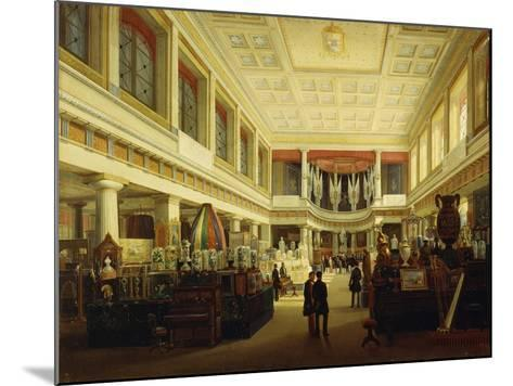 First Industrial Exhibition in Naples in Sala Tarsia in 1854-Salvatore Fergola-Mounted Giclee Print
