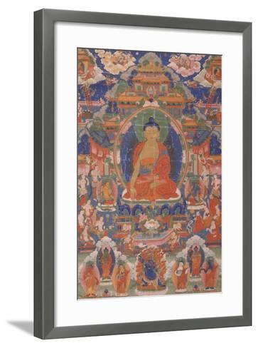 Thangka of Maitreya from Gyangze, Tibet, C.1800--Framed Art Print