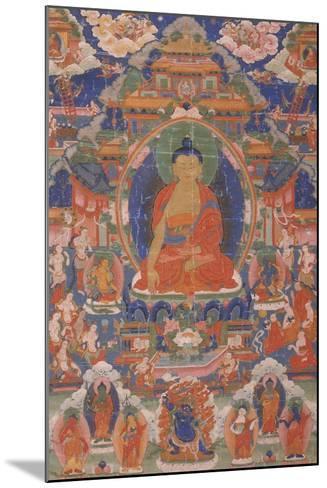 Thangka of Maitreya from Gyangze, Tibet, C.1800--Mounted Giclee Print