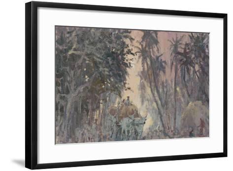 Bullock Carts, Evening Light-Tim Scott Bolton-Framed Art Print
