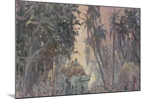 Bullock Carts, Evening Light-Tim Scott Bolton-Mounted Giclee Print