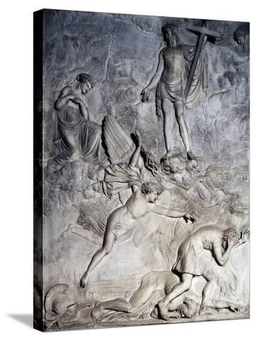 Saint Rosalie Invoking Christ to Free Palermo from Plague, 1830, Relief-Valerio Villareale-Stretched Canvas Print