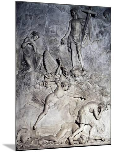 Saint Rosalie Invoking Christ to Free Palermo from Plague, 1830, Relief-Valerio Villareale-Mounted Giclee Print