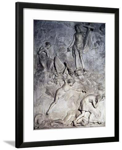 Saint Rosalie Invoking Christ to Free Palermo from Plague, 1830, Relief-Valerio Villareale-Framed Art Print