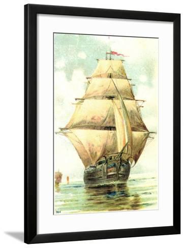 Passepartout Künstler Voiliers Naviguent--Framed Art Print