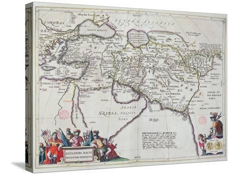 Map of the Travels of Alexander the Great-Willem And Joan Blaeu-Stretched Canvas Print