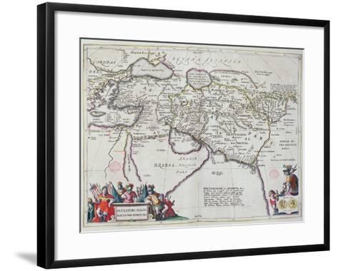 Map of the Travels of Alexander the Great-Willem And Joan Blaeu-Framed Art Print