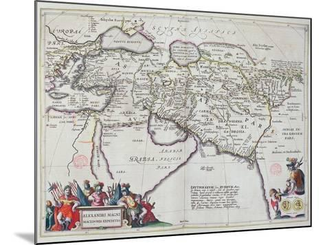 Map of the Travels of Alexander the Great-Willem And Joan Blaeu-Mounted Giclee Print